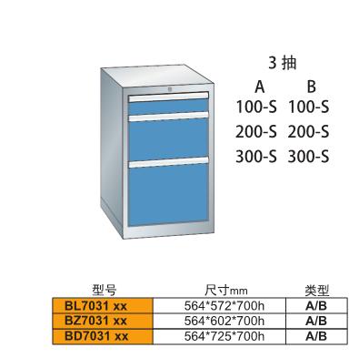 B-7031三抽重型车间工具柜